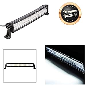 "GC Global Direct 120W 24"" LED Flood Light Bar Off Road Driving Truck SUV - Straight or Curved (24"" Curved)"