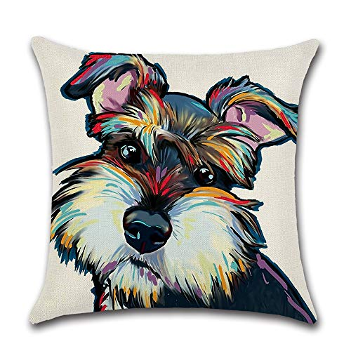 HOMANGA Schnauzer Dog Throw Pillow Covers, 18