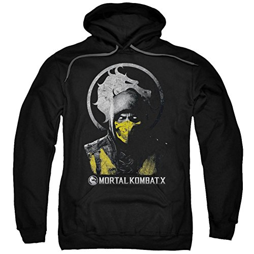 Hoodie: Mortal Kombat X - Scorpion Bust Pullover Hoodie Size XXL for $<!--$32.50-->