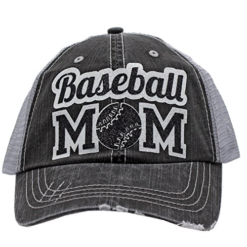 Cowgirl West Baseball Mom Dad Sports Glittering Trucker Style Cap Hat| Rocks any Outfit| (Black)