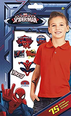 Marvel Spider-Man - Tatuajes temporales (75 Tatuajes): Amazon.es ...