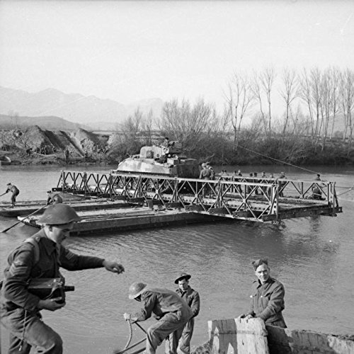 Home Comforts The British Army in Italy 1944 A Sherman tank crosses the River Garigliano on a raft, 19 January 194. by Home Comforts