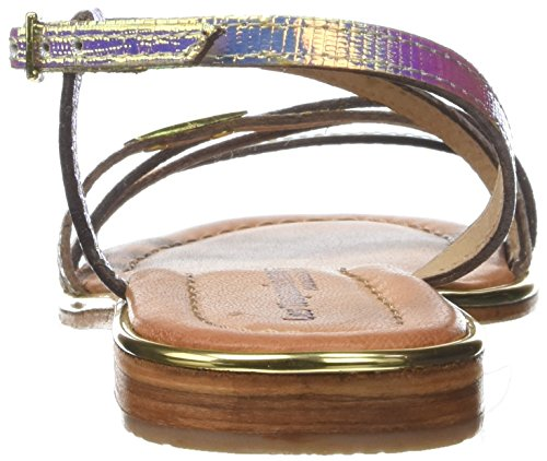 Les Tropéziennes par M. Belarbi Holidays, Sandalias con Correa de Tobillo Para Mujer Multicolor (Irise Multi)