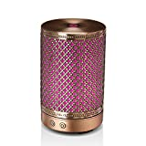 Metal Essential Oil Diffuser, Bronze-Coloured Cool Mist Humidifier, Home Room Decor Diffuser Lighting with Mist Modes & Hollowing Pattern for Study/Office/Nightstand/Gifts(100ml)