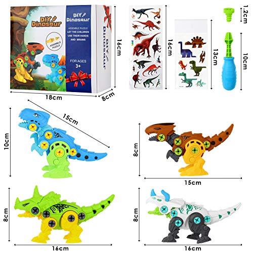Take Apart Dinosaur Toys for Kids-Dinosaur Building Toy with Screwdriver Tools Interlocking STEM Educational Building Construction Kit for Preschool, Kindergarten, Boys & Girls Age 3+