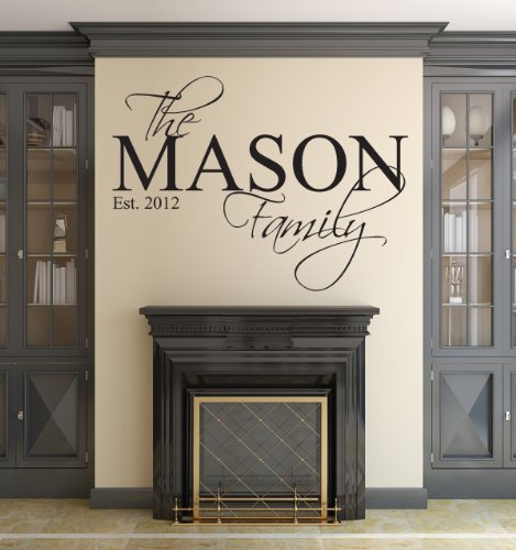Family Name Wall Decal Custom Personalized Monogram Est Year Living Room Decor (40