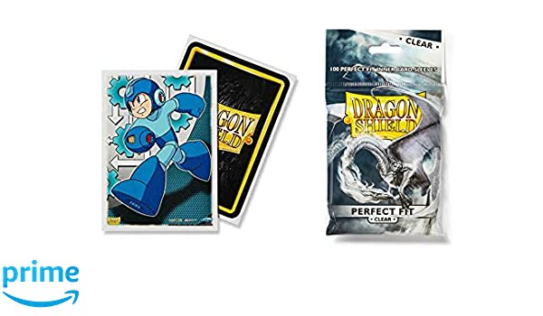 100 Count Clear Inner Card Sleeves Dragon Shield Bundle 100 Count Standard Size Deck Protector Sleeves Classic Valentine Dragons Art Sleeves