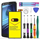 [Upgraded] Motorola Droid Turbo 2 Battery, Euhan 3600mAh Rechargeable Li-Polymer Battery FB55 SNN5958A Replacement for Motorola Droid Turbo 2 XT1585 Moto X Force XT1581+Repair Replacement Kit Tools.