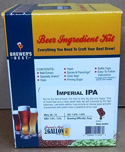 Brewer's Best One Gallon Home Brew Beer Ingredient Kit (Imperial IPA) (Ipa Beer Ingredients compare prices)