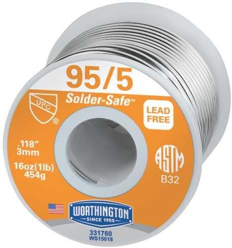 Worthington 331760 Wire Solder, 95/5 1 lb. Roll