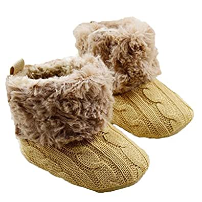 Amazon.com | Wenseny - Baby Girls Knit Soft Fur Winter
