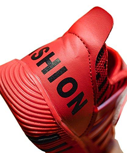 VECJUNIA Jungen Mädchen Sommer Herbst Atmungsaktive Plastik Tropfen Sneakers Kinder Laufschuhe Outdoor Mesh Trekking Schuhe Wanderschuhe Rot