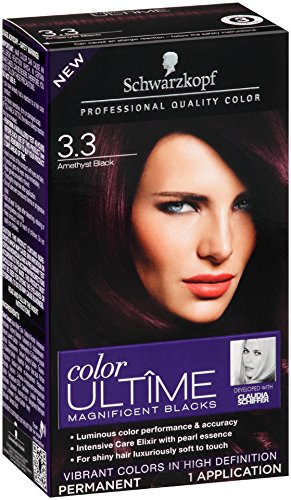 Schwarzkopf Ultime Hair Color Cream, 3.3 Amethyst Black, 2.03 Ounce (Schwarzkopf Hair Color Black compare prices)