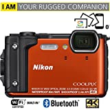 Nikon COOLPIX W300 16MP 4k Ultra HD Waterproof Digital Camera (Orange) - (Certified Refurbished)