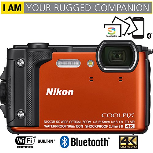 Nikon COOLPIX W300 16MP 4k Ultra HD Waterproof Digital Camera (Orange) – (Certified Refurbished)