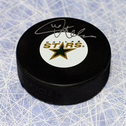 Pat Verbeek Signed Hockey Puck - Dallas Stars - Autographed NHL Pucks