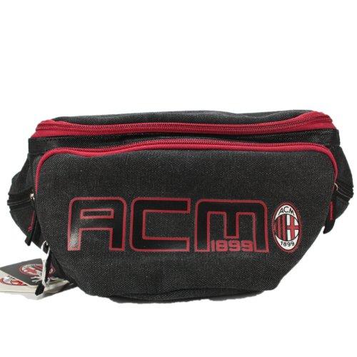 AC Milan Official Product Herren Gürteltasche Herrenhandtaschen Schultertasche Schwarz Henkeltasche Messenger bag italienische team