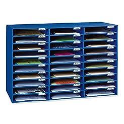 Classroom Keepers 30-Slot Mailbox, Blue ...