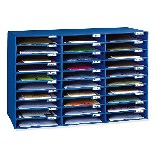 Classroom Keepers 30-Slot Mailbox, Blue -