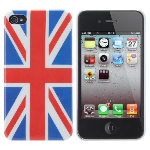 World Cup British Flag Pattern Case Cover For iPhone 4 4S.