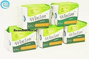 120 pads Pantiliner WinIon Anion Winalite Sanitary Napkin without wing daily by Winalite Winion