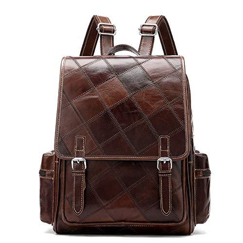 - Genuine Leather Backpack for Women Brown Vintage Laptop Backpack Large Travel for Men