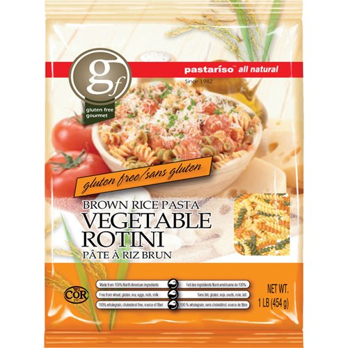 Pastariso Gluten Free Brown Rice Vegetable Rotini - 16 oz (Pack of 6) by Pasta Riso