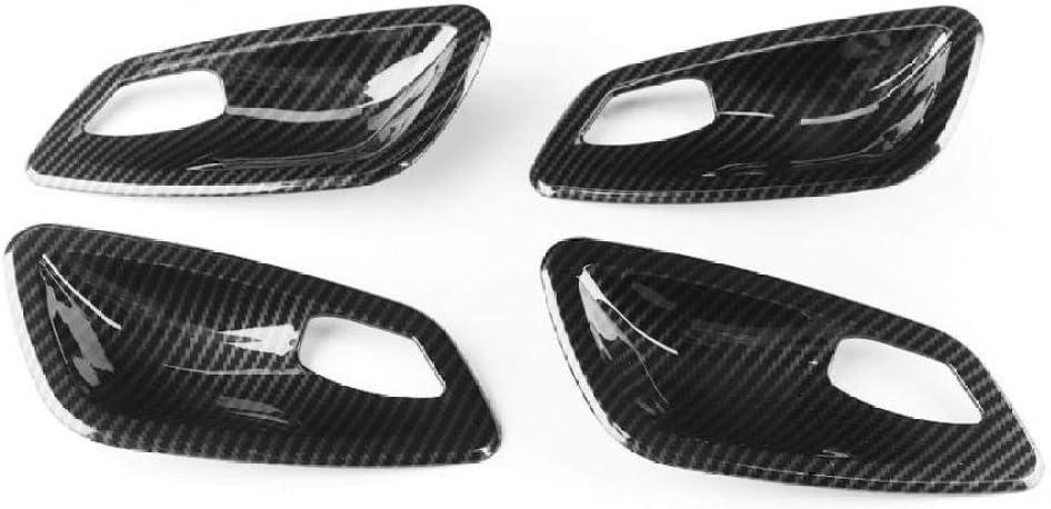 SBCX Adesivi Decorativi per Console Centrale Auto per BMW Serie E90 3 2005 2006 2007 2008 2009 2010 2011 2012,4 Pezzi in Fibra di Carbonio Interni Porta Maniglia Ciotola Trim Trim Fit