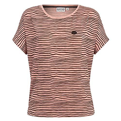 Manica Naketano Light Con A Donna Righe Bottoni Coral T shirt Melange Corta fxqFfwZH
