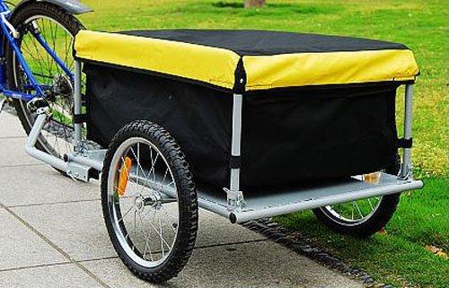 Aosom Elite Bike Cargo / Luggage Trailer - Yellow / Black by Aosom (Image #2)