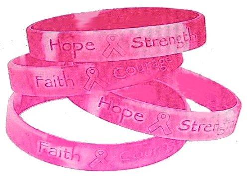 Lot Sur les 48 Ruban rose de Camo ~ Bracelets de sensibilisation du cancer du sein