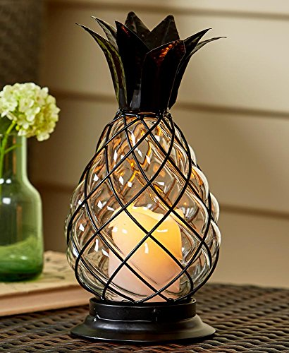 Hurricane Lantern (Glass Pineapple)