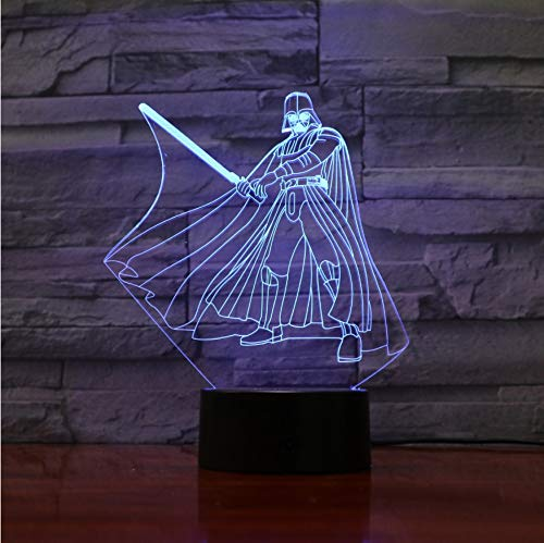 Vader Led Light 3D Novedad Star Light Wars Darth Yoda Night 08OknwPX