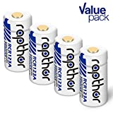 RCR123A Batteries - Li-ion Arlo Battery [750mAh 3.7V 4pack] for Arlo Wireless Security Cameras (VMC3030/VMK3200/VMS3230/3330/3430/3530) Security System, Flashlight, Polaroid, Microphone