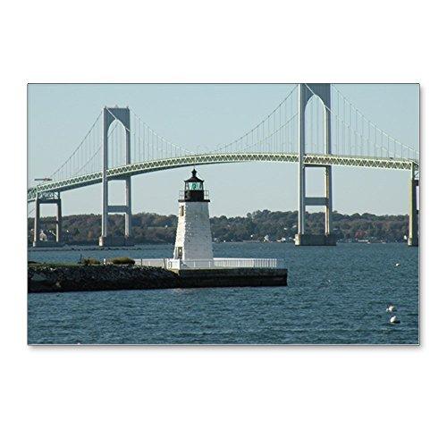 - CafePress - Bridge-Lighthouse-14X10_P - Postcards (Package of 8), 6