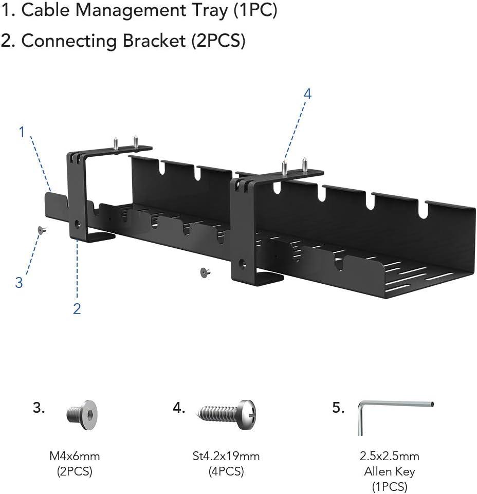 organizador de cables organizador de cables flexible y ahorra espacio Organizador de cables para escritorio de escritorio