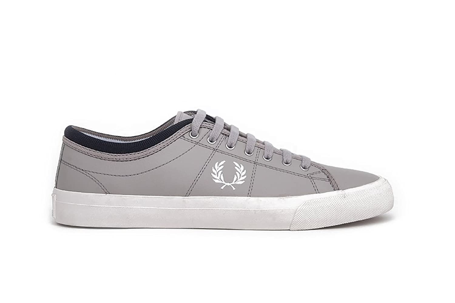 Fred Perry Kendrick REVERSES Tipped Cuff Canvas Silver/Snow White/Navy Silver/Snow White/Navy