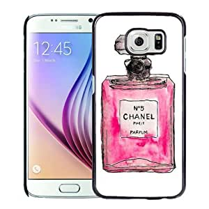 Beautiful Custom Designed Cover Case For Samsung Galaxy S6 With Hand Drawn Chanel No. 5 Phone Case