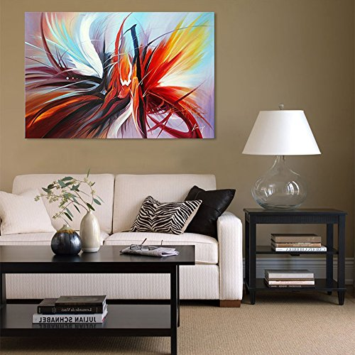 Large Abstract Canvas Wall Art Modern Oil Painting Picture Contemporary Artwork for Home Decoration Stretched Ready to Hang (Framed 4836 inch) by Seekland Art (Image #2)