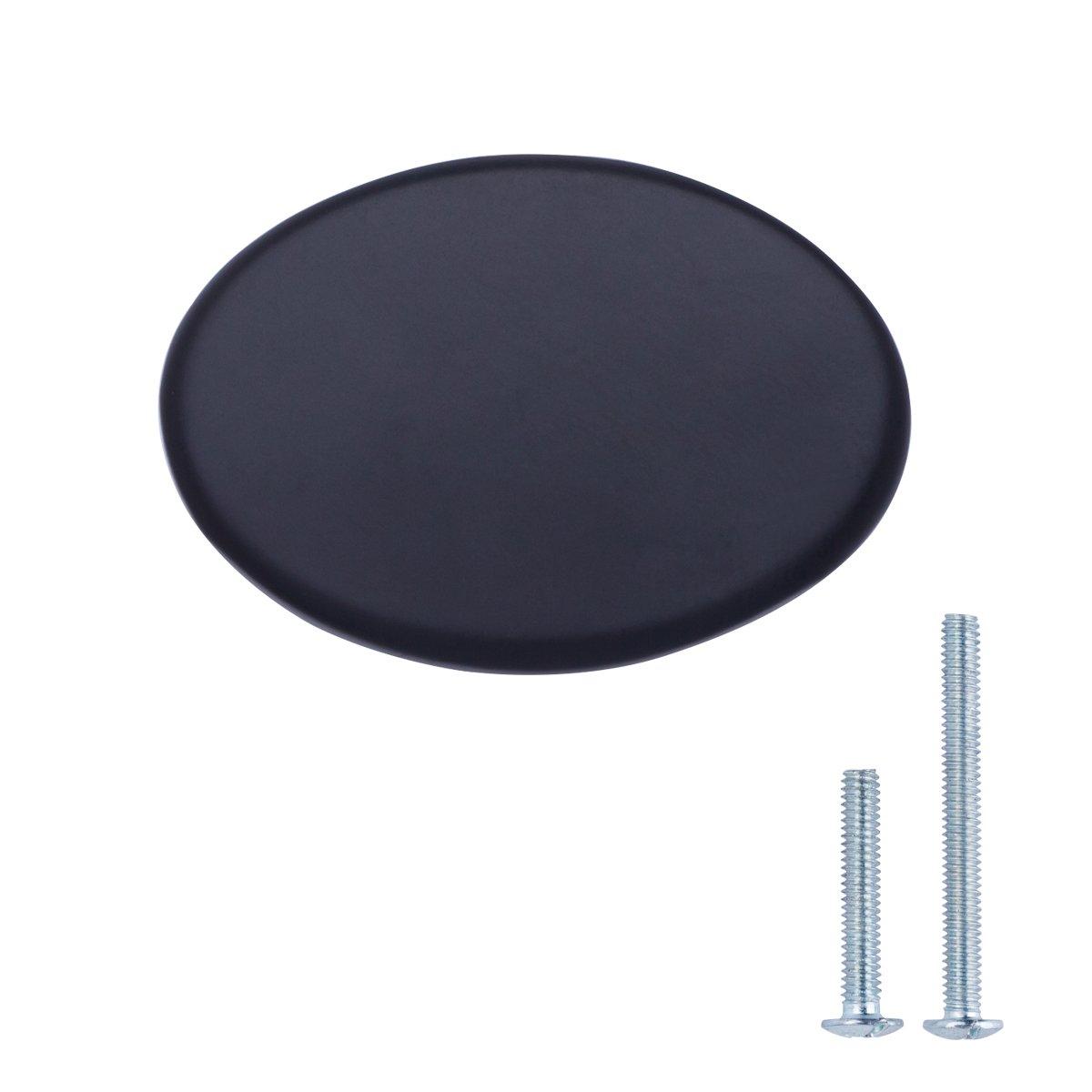 Durchmesser: 2,95 cm modern 25er-Pack mit runder Platte oben Schubladenknopf Basics Ge/öltes Bronze M/öbelgriff