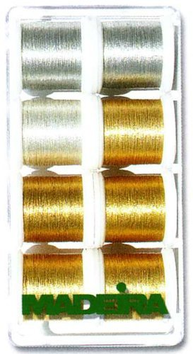 Metal Thread - Madeira Heavy Metal 8014 Embroidery Thread Box Assortment With 8 Metallic Spools