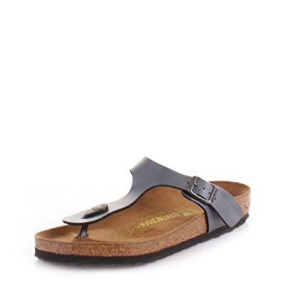 673a4660208e Womens Birkenstock Gizeh Ice Pearl Onyx Sandals SIZE 3  Amazon.co.uk  Shoes    Bags