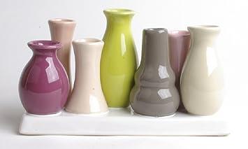 Amazon De Dekoratives Blumen Vasenset Tischdeko Vase Einzelblute