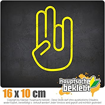 The Shocker Hand 16 x 10 cm In 15 Farben - Neon + Chrom! JDM Sticker Aufkleber Kiwistar