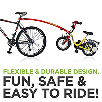 Trailgator Barra de remolque para bicicleta de niño 4