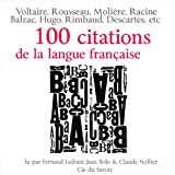 img - for 100 citations de la langue fran aise book / textbook / text book