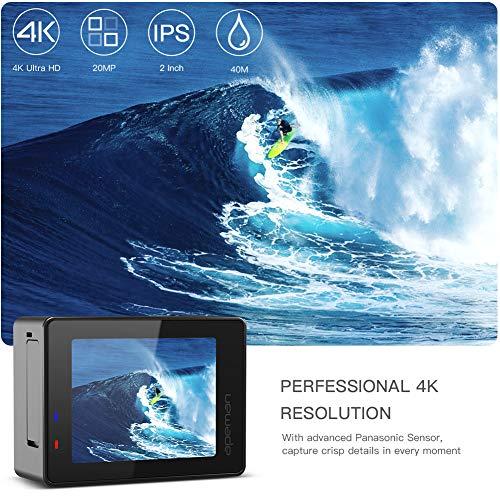APEMAN Trawo 4K HD 20MP Underwater 40M Camcorder 170 Ultra-Wide Advanced EIS Dual
