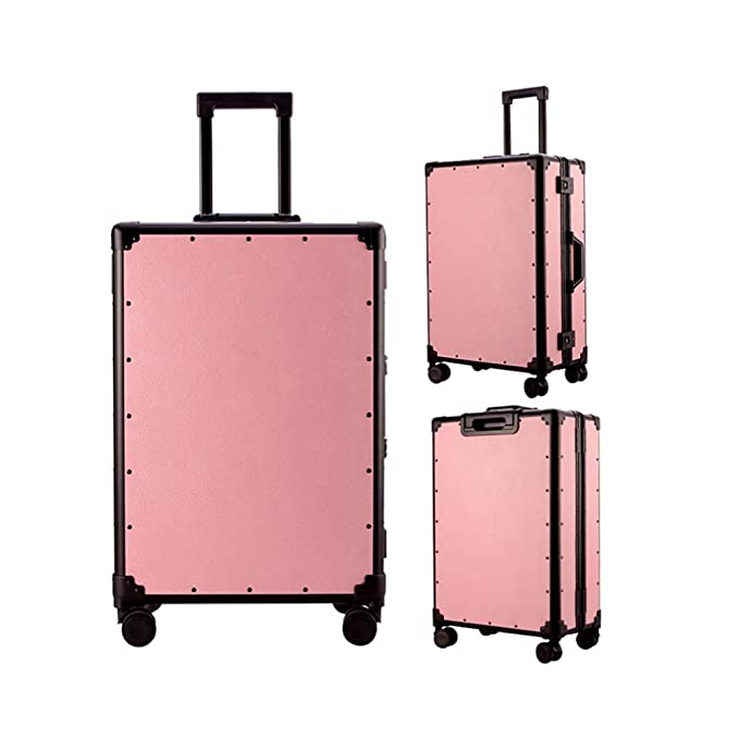 LEYOUDIAN Laganxiang Luggage Female Trolley case Retro Cute Girl Password Leather Suitcase Suitcase Color : White, Size : 35cm23cm55cm