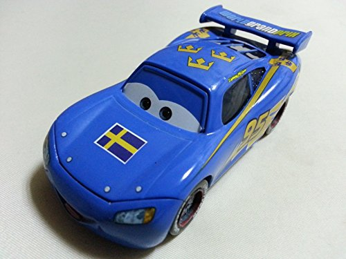 Lightning Mcqueen And Sally Costumes (Car Toys Pixar 1:55 Scale Diecast No.95 Lightning Mcqueen Sweden Pattern Metal Toy and Car Collectors)