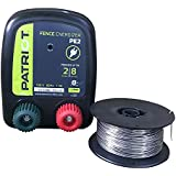 Patriot PE2 Electric Fence Energizer Plus 250-Feet Made in U.S.A. 17 Gauge Spool Aluminum Wire for Containing Pets and Keeping Out Small Nuisance Animals